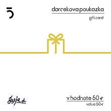 Darčekové poukážky - Darčeková poukážka zlatá - 5ive lab - 8599979_