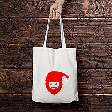Nákupné tašky - Mikuláš (bavlnená nákupná taška) - 8600625_