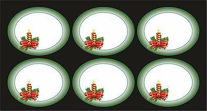 Papiernictvo - Samolepky na vianočné darčeky zelené - 8602830_