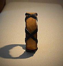 Náramky - Náramok kožený, opletený - 8599925_