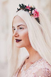 Ozdoby do vlasov - Glamour kvetinová čelenka