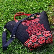 Veľké tašky - Čierno-červená - 8599307_