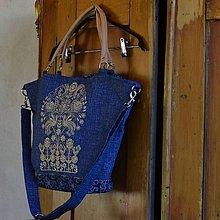 Veľké tašky - Modro- béžová - 8599310_