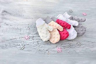 Detské doplnky - Minky rukavice-podšité - 8602891_