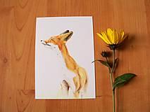 Papiernictvo - Pohľadnica :Líška vetriaca - 8601624_