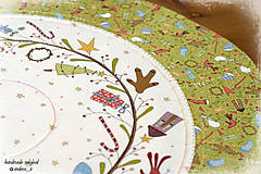 "Úžitkový textil - obrus ""under the mistletoe"" kruh - 8600622_"