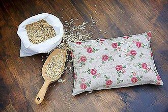 Úžitkový textil - Špaldový vankúš 20 x 30 cm - 8602336_