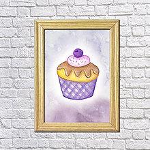 Grafika - Čučoriedkový koláčik v hmle - 8601423_