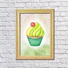 Grafika - Pistáciovo-vanilkový koláčik v hmle - 8601433_