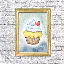 Grafika - Zamilovaný koláčik v hmle - 8601447_