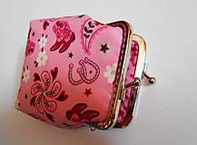 Peňaženky - Ružová peňaženka - 8606704_