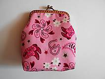 Peňaženky - Ružová peňaženka - 8606707_