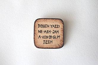 Odznaky/Brošne - ♥ Láska v kóde Navajo - brošňa zo série ''Zašifrovaná láska'' - 8603115_