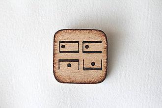 Odznaky/Brošne - ♥ Láska v telefónnej šifre - brošňa zo série ''Zašifrovaná láska'' - 8603515_