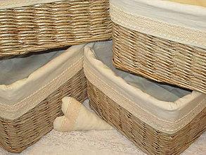 Košíky - Košíky - Briezky vo vanilkovej košieľke - 8603933_