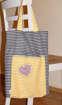 Nákupné tašky - Nákupná taška (Pásikavá taška) - 8603272_