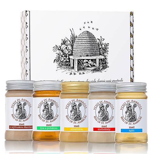 Potraviny - darčekové balenie 5 medov - 8606231_