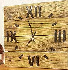 Hodiny - Hodiny zo starého dreva  II - 8605101_