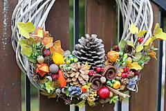 Dekorácie - Jesenný veniec - 8605088_