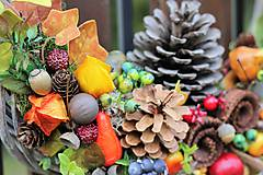 Dekorácie - Jesenný veniec - 8605091_
