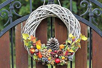 Dekorácie - Jesenný veniec - 8605082_
