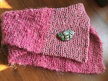 Šály - ružový nákrčník - 8603706_