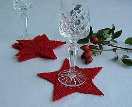 Úžitkový textil - Podšálky - hviezdy - 8604533_