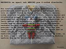 Textil - Spací vak pre deti a bábätká ZIMNÝ 100% MERINO na mieru Hviezdička hnedá - 8604417_