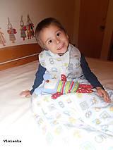 Textil - Ovčie rúno Detský spací vak na zimu 100% MERINO TOP super wash BODKA béžová - 8604433_