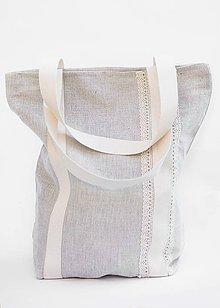 Nákupné tašky - Nákupná taška priateľská k prírode s krajkou - 8603822_
