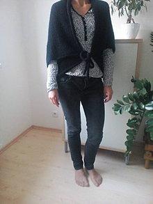 Iné oblečenie - Čierna vesta na viazanie - 8606463_