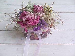 Dekorácie - Kvetinová krabička ... prírodná dekorácia - 8605762_
