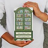 Dekorácie - Miniatúrna starožitná knižnica - 8606286_