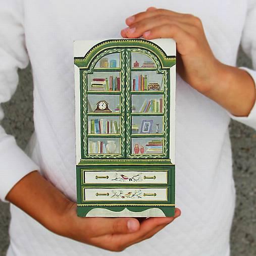 Miniatúrna starožitná knižnica
