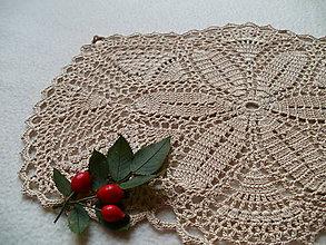Úžitkový textil - Prírodná háčkovaná dečka - 8605382_
