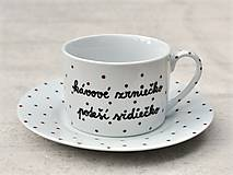 Nádoby - Maľovaná šálka s podšálkou na kávu - 8605480_