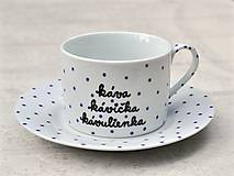 Nádoby - Maľovaná šálka s podšálkou na kávu - 8605522_