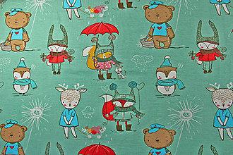 Textil - ZĽAVA Bio úplet Zvieratká v zelenom - 8606193_