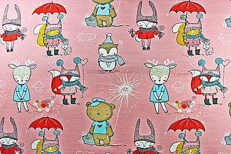 Textil - ZĽAVA Bio úplet Zvieratká v ružovom - 8606204  a7b822f0fd