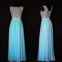 Šaty - Spoločenské šaty s tylovým živôtikom rôzne farby - 8603661_