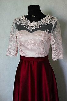 Šaty - Spoločenské šaty z tylovej krajky a polkruhovou sukňou rôzne farby - 8603739_