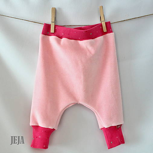 Úpletové nohavice pre bábätká ružové veľkosť 68 74   babikajeja ... 2d9f0a95c5d