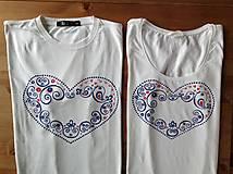 Folkové maľované tričko (Dospelácke duo)