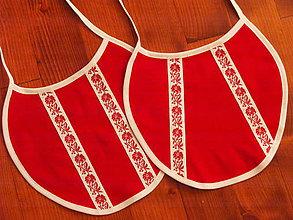 Iné doplnky - Č.13 Folklorne podbradníky v červenom - 8603506_
