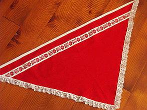 Šatky - Folklorna červená šatka č. 4 - 8603526_