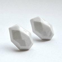 Náušnice - Náušnice biele Krystalix - 8603432_
