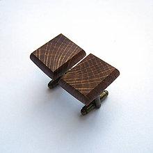 Šperky - Dubové obdĺžniky - 8603338_