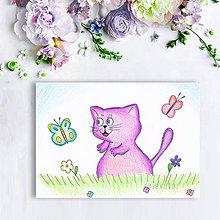 Kresby - Mačička (motýliková) - 8605197_