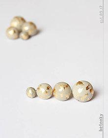 Náušnice - Betónové náušnice GUĽA zlatá - 8603815_