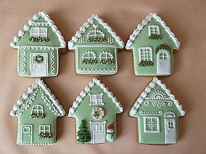 Dekorácie - vianočné medovníkové domčeky - 8609735_
